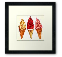 Soft Serve Framed Print