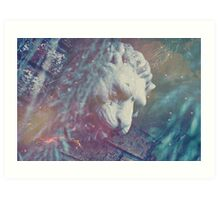 Haunted Lion Art Print