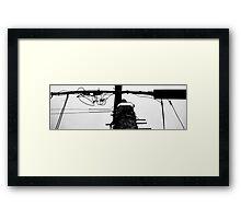 Black on White Wire Framed Print