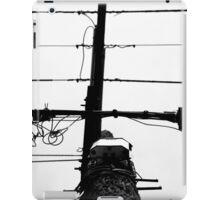 Black on White Wire iPad Case/Skin