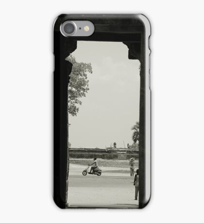 At the Temple Gate Siem Reap iPhone Case/Skin