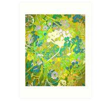 Wacky Retro Floral Abstract Art Print