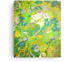 Wacky Retro Floral Abstract Metal Print