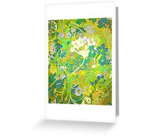 Wacky Retro Floral Abstract Greeting Card