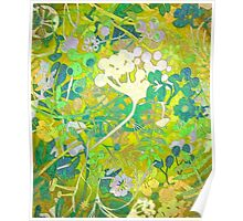 Wacky Retro Floral Abstract Poster