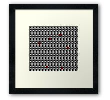 The cube is the star Framed Print