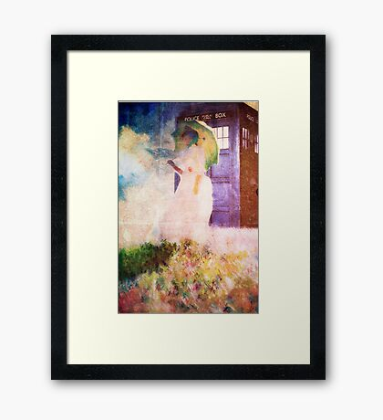 Time Travel In Art Framed Print