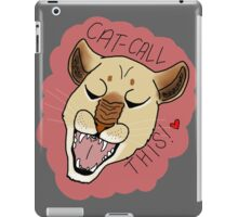 CAT CALL THIS // LIONESS iPad Case/Skin