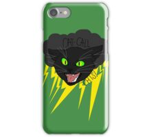 CAT CALL THIS // BLACK CAT iPhone Case/Skin