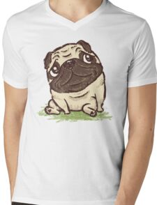 Pug that relaxes Mens V-Neck T-Shirt
