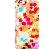 multi coloured Painted Background iPhone Case/Skin
