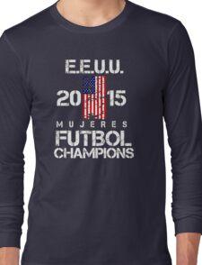 EEUU 2015 Mujeres Futbol Champions Long Sleeve T-Shirt