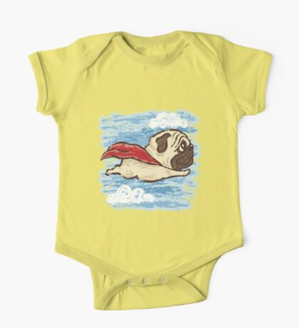 Flying Pug One Piece - Short Sleeve