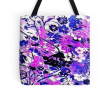 Wacky Retro Floral Abstract Tote Bag