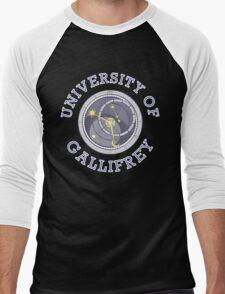 University Of Gallifrey (Black/Dark Colours) Men's Baseball ¾ T-Shirt