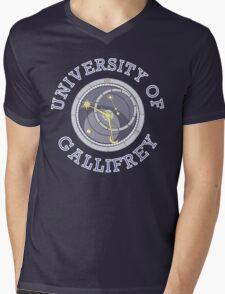 University Of Gallifrey (Black/Dark Colours) Mens V-Neck T-Shirt