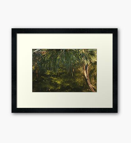 Reflections of Palms Framed Print