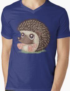 Round hedgehog Mens V-Neck T-Shirt