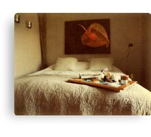 Breakfast in bed... Canvas Print