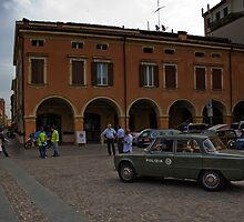Back in the 50's,Piazza Piccola,Sassuolo,Italy by Davide Ferrari
