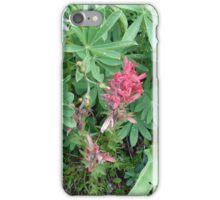 Mountain wild flower - red iPhone Case/Skin