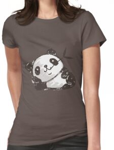 Panda that is relaxing Womens Fitted T-Shirt