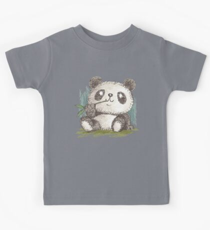 Panda that is eating bamboo Kids Tee