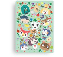 Animal Crossing New Leaf Town Folk Canvas Print