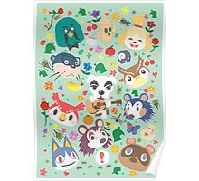 Animal Crossing New Leaf Town Folk Poster