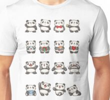 Various feeling of Panda Unisex T-Shirt