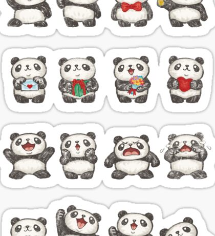 Various feeling of Panda Sticker