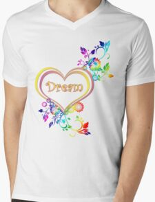 Dream Heart Mens V-Neck T-Shirt