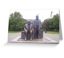 Marx & Engels statue - Berlin, Germany Greeting Card
