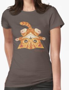 Tabby upside-down Womens Fitted T-Shirt