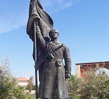 Soviet soldier strength statue - Memento Park, Budapest by waynebolton