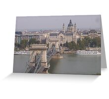 Chain Bridge over the Danube - Budapest, Hungary Greeting Card