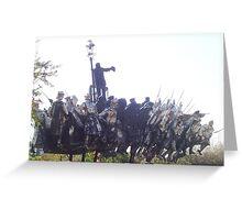 Communist soldiers statue - Memento Park, Budapest Greeting Card