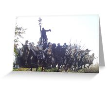 Communist soldiers statue - Memento Park, Budapest Greeting Card