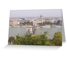 The River Danube - Budapest, Hungary Greeting Card
