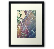 Haunted Lamp Framed Print
