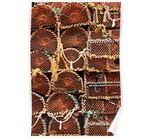 Lobster pots - Seahouses Harbour, UK Poster