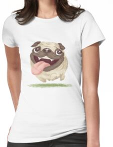 Active pug Womens Fitted T-Shirt