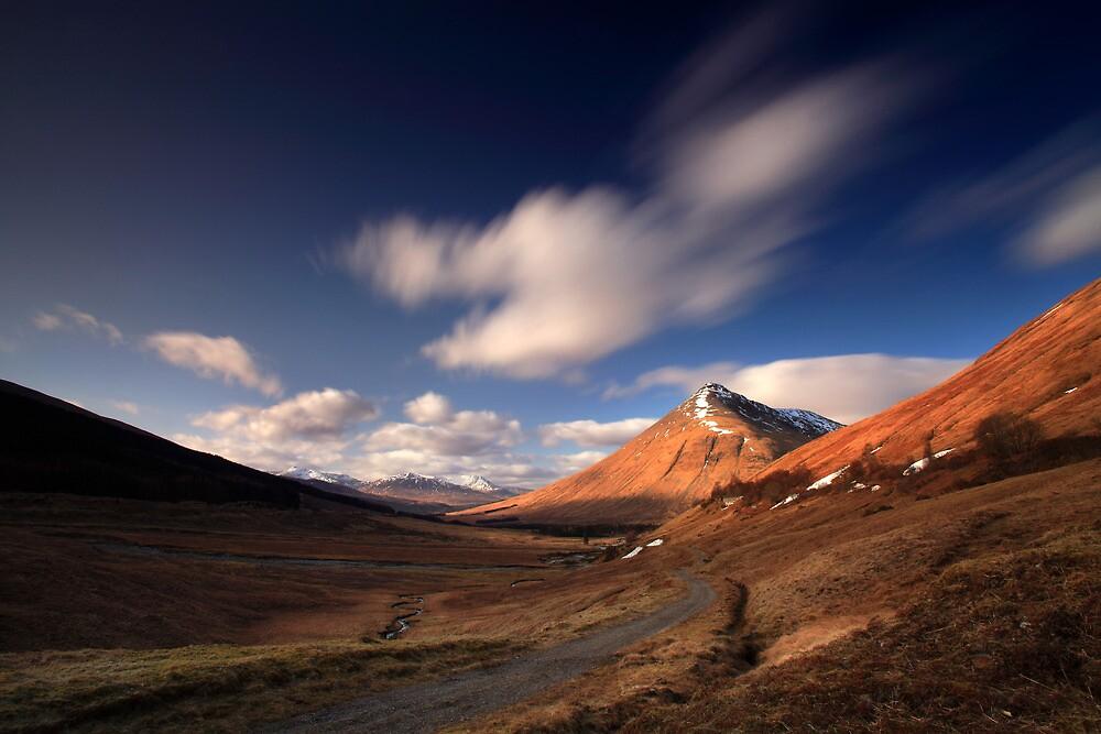 Afternoon sunlight Beinn Dorain by Angus Clyne