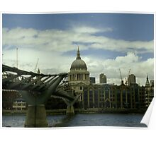 London Millennium Bridge Poster