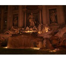 Trevi Fountain by night - Rome, Italy Photographic Print