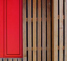 Het 4e Gymnasium - wood, wall panel by Marjolein Katsma