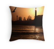 Dawn with duststorm, Dubai Throw Pillow