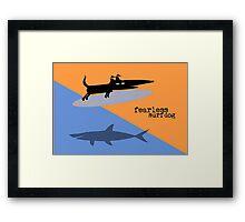 Fearless Surf Dog Framed Print
