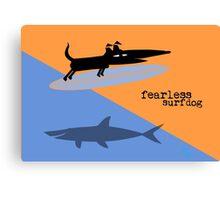 Fearless Surf Dog Canvas Print