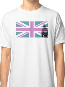 Union Jack and Big Ben, London, UK, Pink and Purple Classic T-Shirt